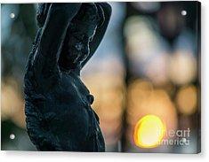 Acrylic Print featuring the photograph Fountain At Sunset Alameda Apodaca Cadiz Spain by Pablo Avanzini