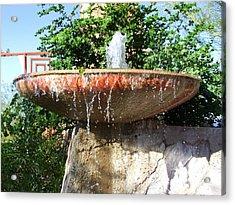 Fountain At Taliesen Acrylic Print