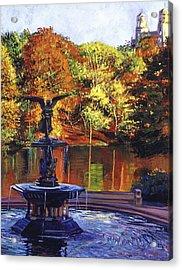 Fountain Central Park Acrylic Print