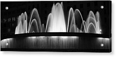 Fountain In Barcelona Acrylic Print by Farol Tomson