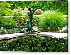 Fountain In The Park Acrylic Print