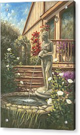 Fountain Lady Acrylic Print by Jose Rodriguez