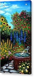 Fountain Of Flowers Acrylic Print