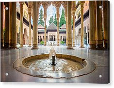 Fountain Of Lions At The Alhambra Acrylic Print