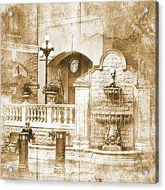 Fountain Of Rest Acrylic Print by Dale Stillman