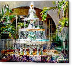 Fountain Of Water Acrylic Print