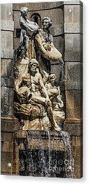 Fountain People Acrylic Print by Svetlana Sewell