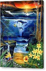 Fountain Acrylic Print by Sevan Thometz