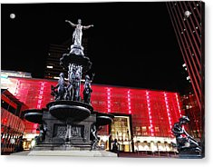 Fountain Square Acrylic Print by Russell Todd