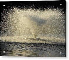 Fountain Tornado Illuminating The Shadow Acrylic Print