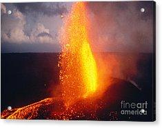 Fountaining Kilauea Acrylic Print by Allan Seiden - Printscapes