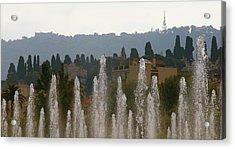 Acrylic Print featuring the photograph Fountains At Dawn by Rasma Bertz
