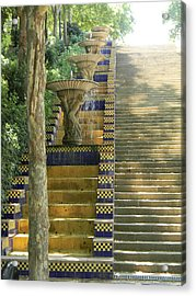Fountains At Montjuic Acrylic Print