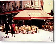 Fouquets Of Paris 1955 Acrylic Print by Will Borden