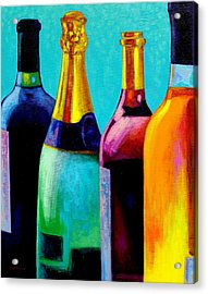 Four Bottles Acrylic Print by John  Nolan
