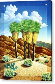 Four Bunch Palms Acrylic Print by Snake Jagger
