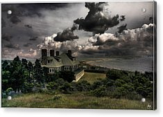 Acrylic Print featuring the photograph Four Chimneys In A Cuttyhunk Storm by Wayne King