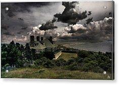 Four Chimneys In A Cuttyhunk Storm Acrylic Print