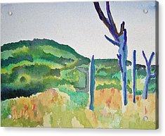 Four Dead Trees After Edward Hopper Acrylic Print
