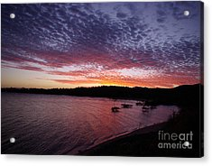 Four Elements Sunset Sequence 1 Coconuts Qld  Acrylic Print by Kerryn Madsen - Pietsch