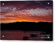 Acrylic Print featuring the photograph Four Elements Sunset Sequence 2 Coconuts Qld by Kerryn Madsen - Pietsch