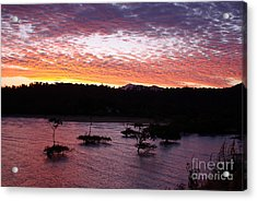 Acrylic Print featuring the photograph Four Elements Sunset Sequence 3 Coconuts Qld by Kerryn Madsen - Pietsch