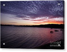 Acrylic Print featuring the photograph Four Elements Sunset Sequence 4 Coconuts Qld  by Kerryn Madsen- Pietsch