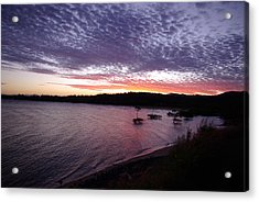 Acrylic Print featuring the photograph Four Elements Sunset Sequence 6 Coconuts Qld  by Kerryn Madsen-Pietsch