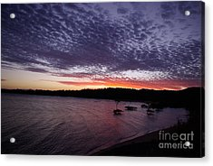 Acrylic Print featuring the photograph Four Elements Sunset Sequence 7 Coconuts Qld  by Kerryn Madsen - Pietsch