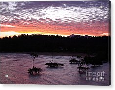 Acrylic Print featuring the photograph Four Elements Sunset Sequence 8 Coconuts Qld  by Kerryn Madsen - Pietsch