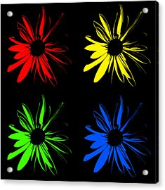 Acrylic Print featuring the photograph Four Flowers by Maggy Marsh