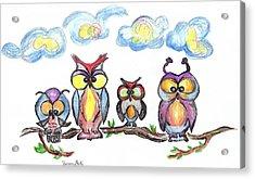Four Friends  Acrylic Print