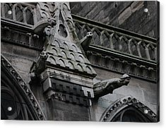 Acrylic Print featuring the photograph Four Gargoyles On Notre Dame North by Christopher Kirby