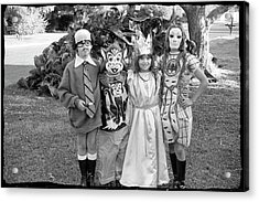 Four Girls In Halloween Costumes, 1971, Part One Acrylic Print