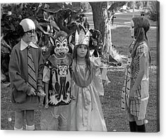 Four Girls In Halloween Costumes, 1971, Part Two Acrylic Print
