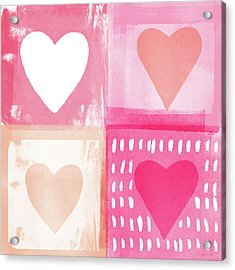 Four Hearts- Art By Linda Woods Acrylic Print