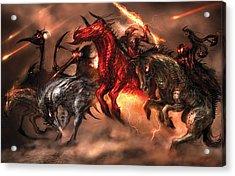 Four Horsemen Acrylic Print by Alex Ruiz