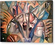 Four Kings Acrylic Print by Gyorgy Szilagyi