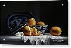 Four Lemons With Canton Acrylic Print by Larry Preston