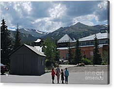Four Little Children Safe In A Big Beautiful World Telluride Colorado Acrylic Print