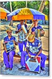 Four Man Band Acrylic Print by Michael Garyet