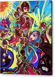 Acrylic Print featuring the painting Experimenting With Creation by Marina Petro