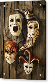 Four Masks Acrylic Print by Garry Gay