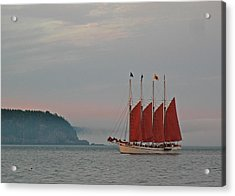 Four-masted Schooner The Margaret Todd Acrylic Print by Juergen Roth