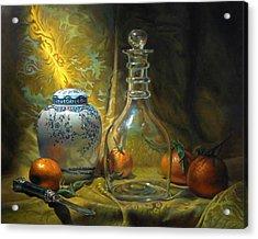 Four Oranges Acrylic Print by Jeffrey Hayes