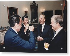 Four Presidents Nixon Reagan Ford Acrylic Print by Everett