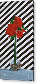 Four Roses Acrylic Print by Marcia Paige