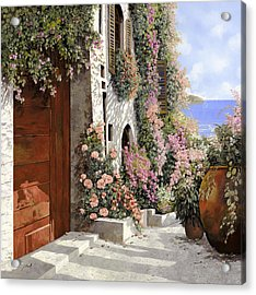 four seasons- spring in Tuscany Acrylic Print by Guido Borelli