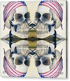 Four Skulls Acrylic Print