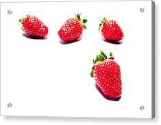 Four Strawberries Acrylic Print